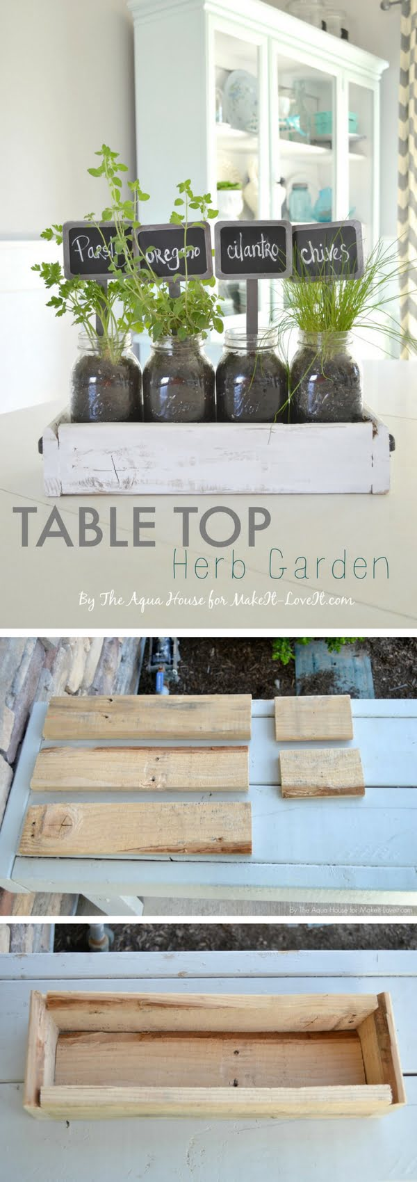 How to build a DIY tabletop herb garden