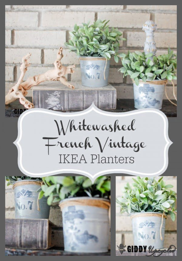 Check out how to make DIY French vintage planters