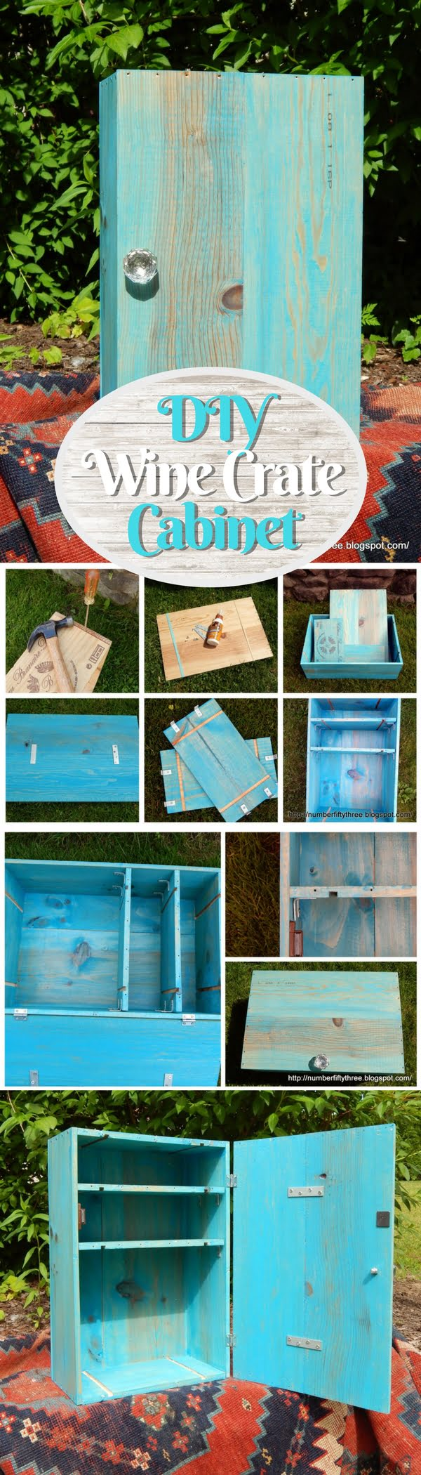 15 Brilliant DIY Crafts You Can Make with Wood Crates - Check out how to build an easy DIY cabinet from wine crates