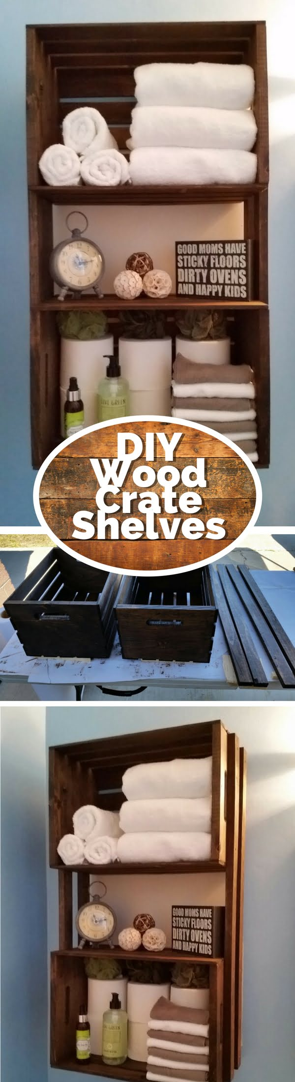 15 Brilliant DIY Crafts You Can Make with Wood Crates - Check out how to build a DIY rustic towel rack from wood crates