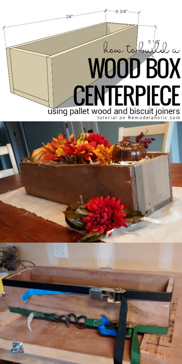 How to build a DIY rustic centerpiece box form pallet wood