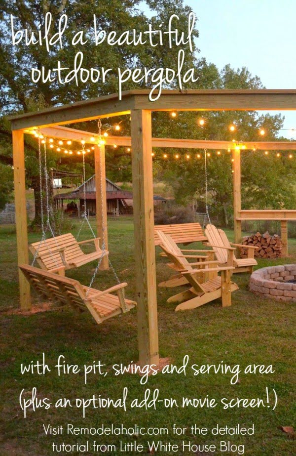 Check out how to build a DIY outside pergola
