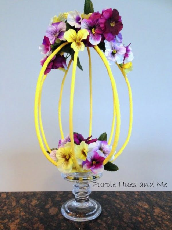 How to make a  crepe paper wrapped wire centerpiece
