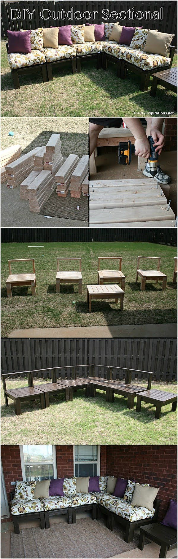Check out how to build this DIY outdoor sectional