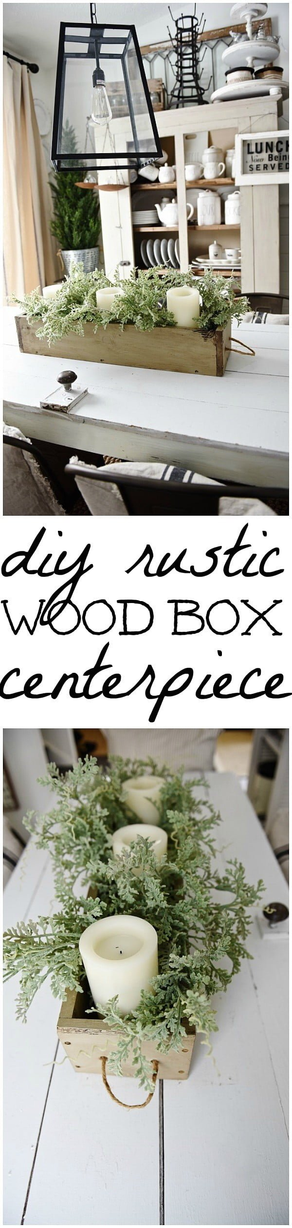 How to make a DIY rustic wood box centerpiece