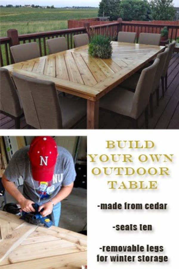 Check out how to build a DIY outdoor table