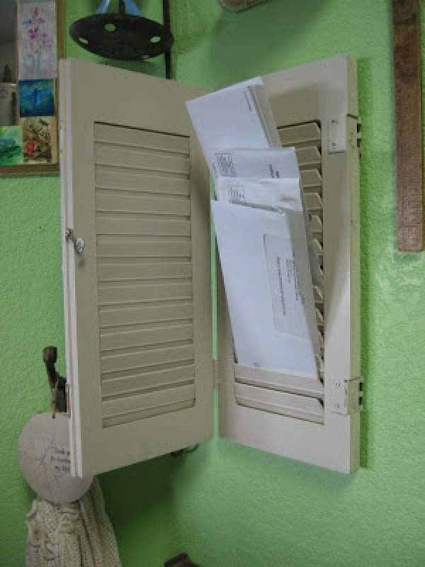 Check out how to build this DIY mail caddy from old shutters