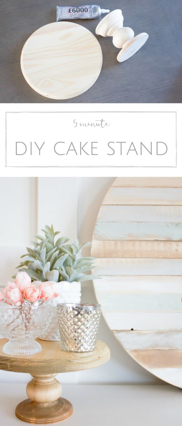How to make an easy DIY cake stand for table centerpieces