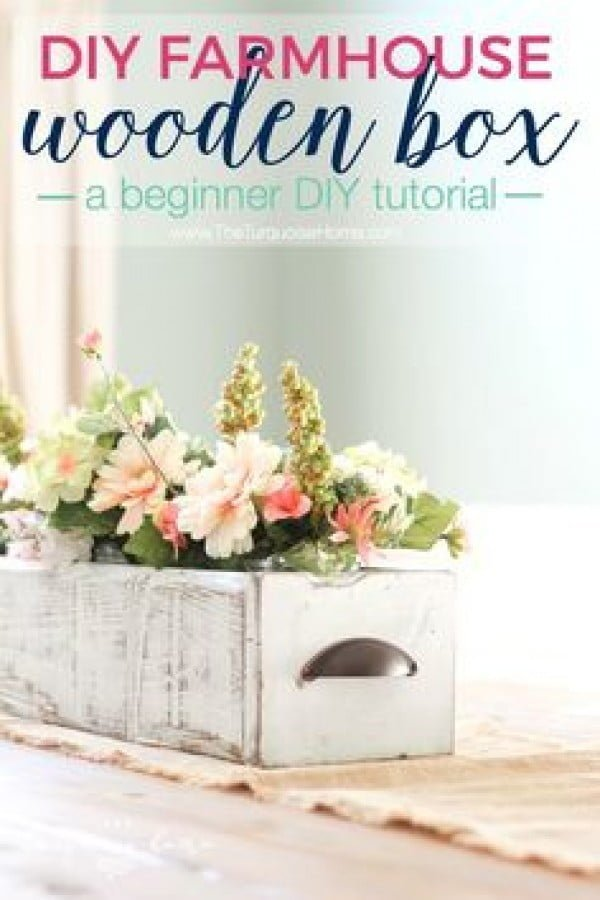How to build a DIY farmhouse centerpiece box