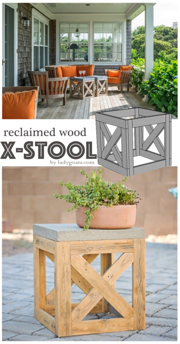 Check out how to make a #DIY outdoor stool from reclaimed wood. Looks easy enough! #HomeDecorIdeas @industrystandarddesign