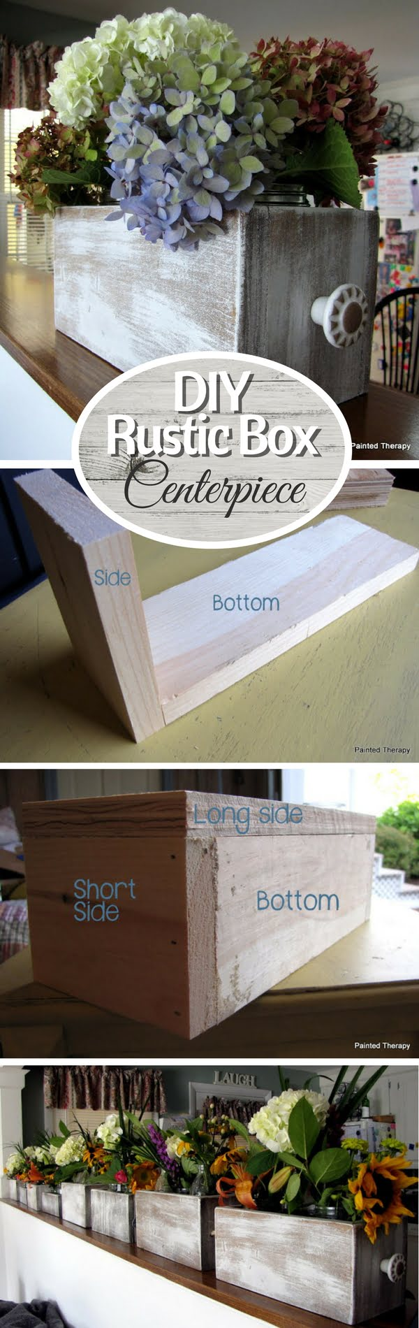 How to build a DIY rustic wooden box for centerpieces