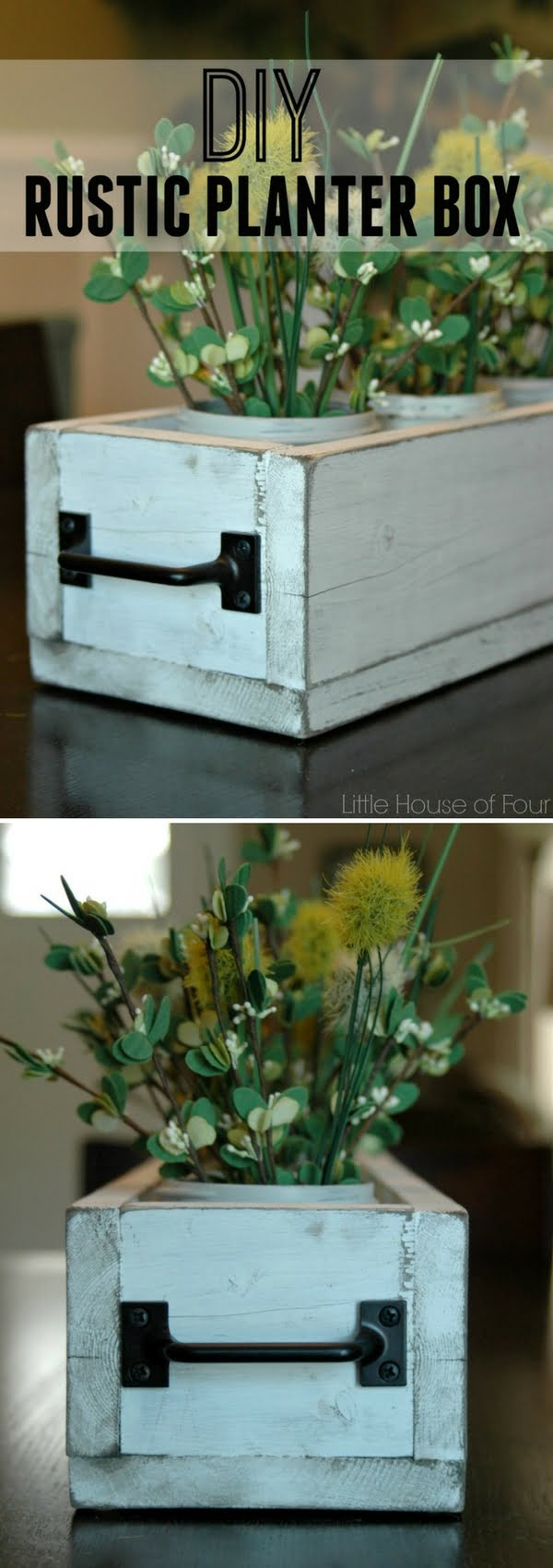How to make a DIY rustic planter box