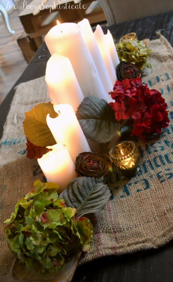 How to make an easy DIY rustic burlap centerpiece