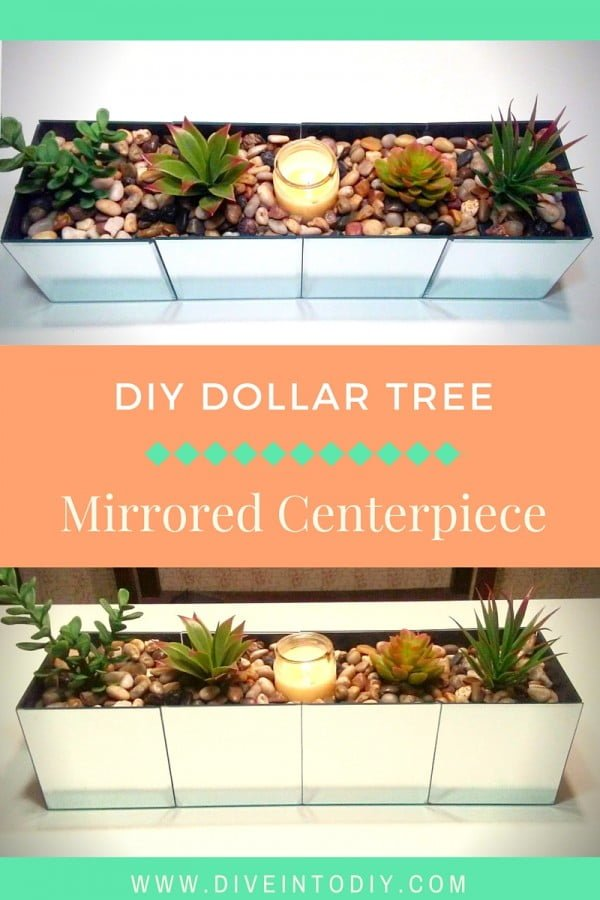 How to make a DIY mirrored centerpiece