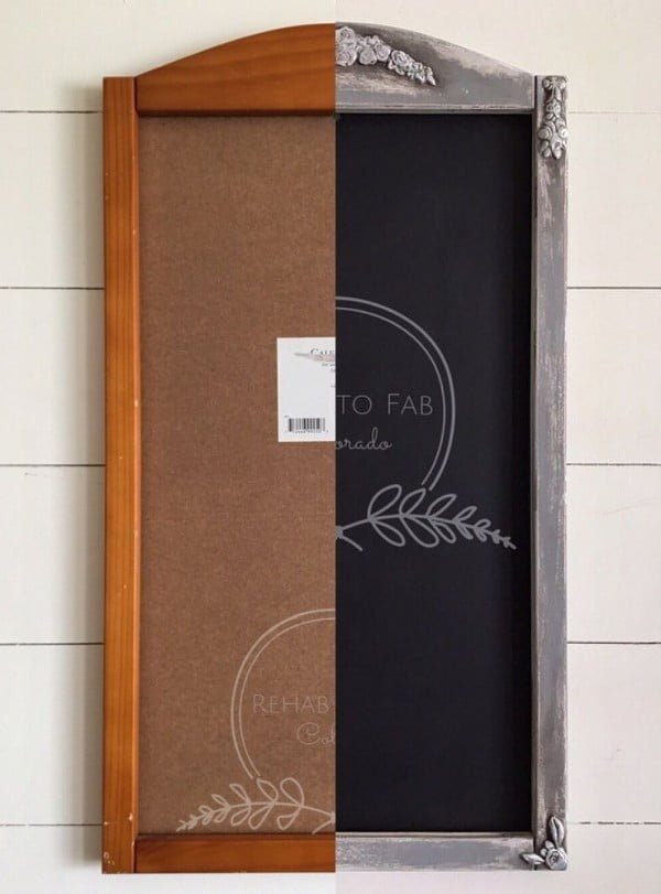 Check out how to make a DIY shabby chic chalkboard from a thrift store find @istandarddesign