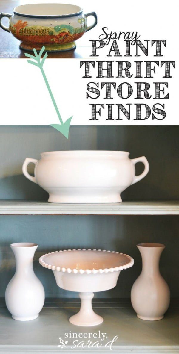 How to transform thrift store finds with spray paint