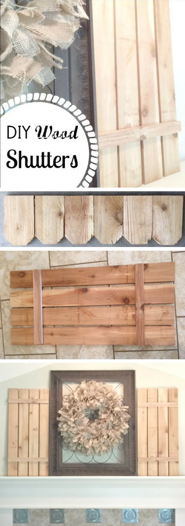Check out how to make DIY wood shutters