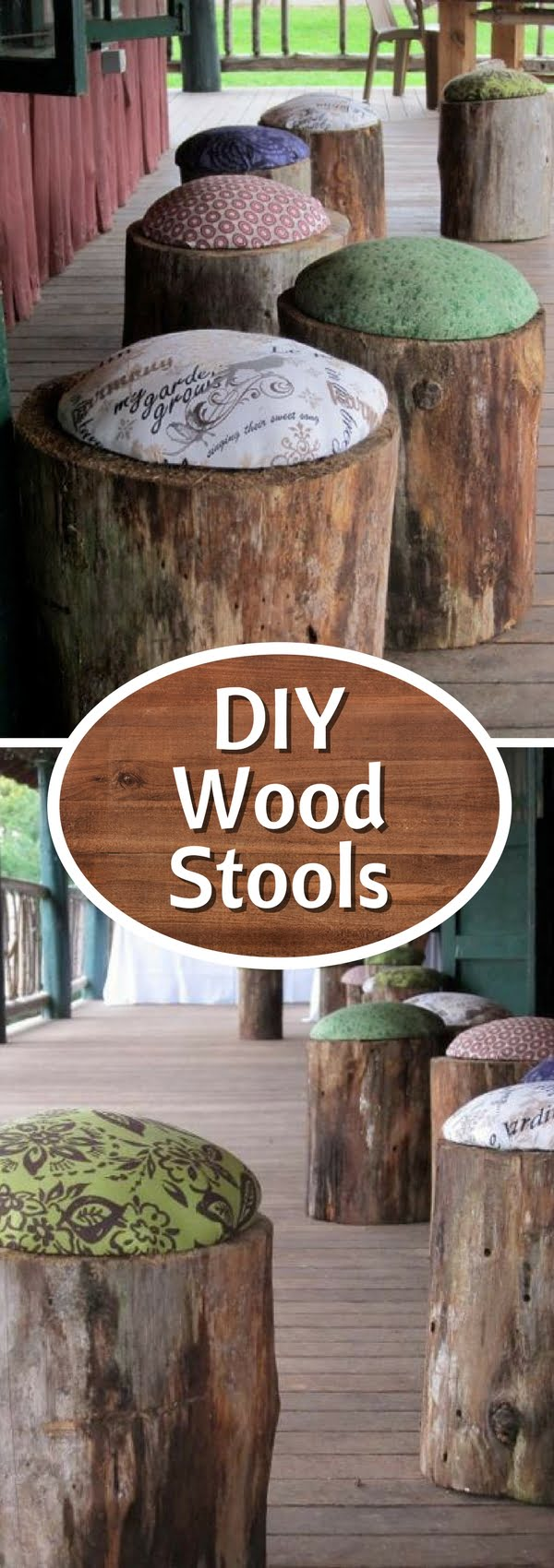How to make #DIY tree stump stools