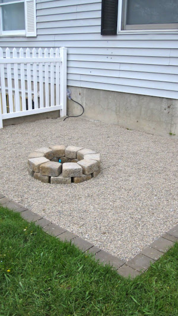 Check out the tutorial on how to make a small DIY round backyardl fire pit