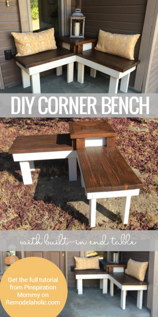 Check out the tutorial on how to make a DIY corner bench
