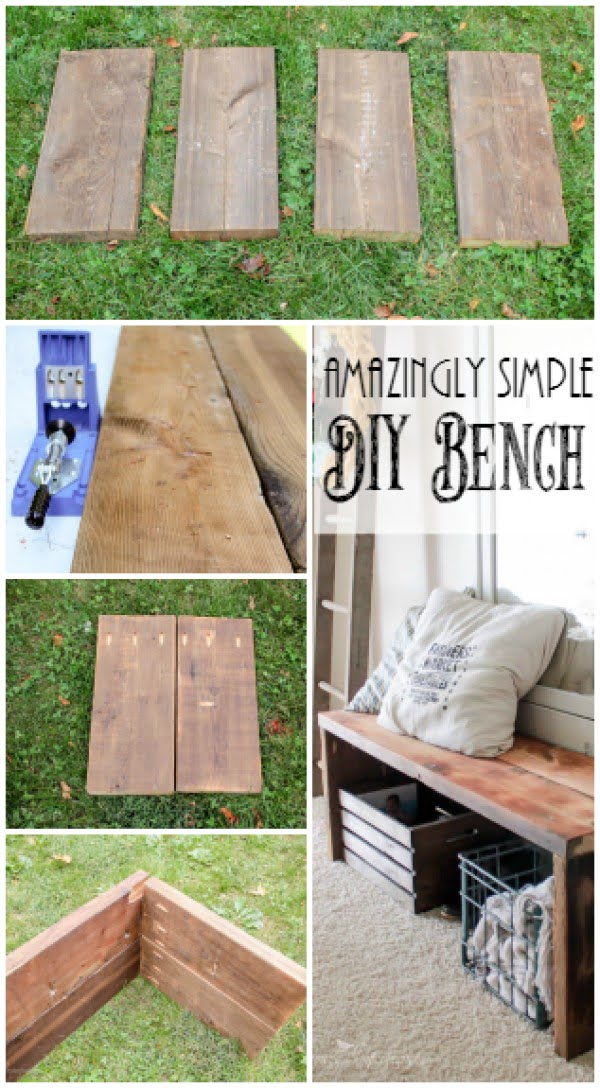 Check out the tutorial on how to make a simple DIY bench