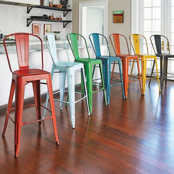 Colorful Kitchen Chairs: 30 Colorful Kitchen Bar Stools That You'll Fall In Love With