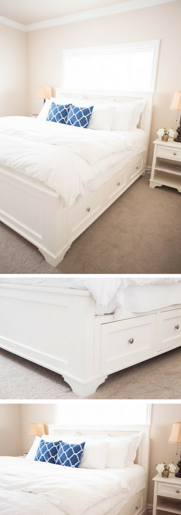 45 Easy DIY Bed Frame Projects You Can Build on a Budget - Check out how to build a DIY king size bed