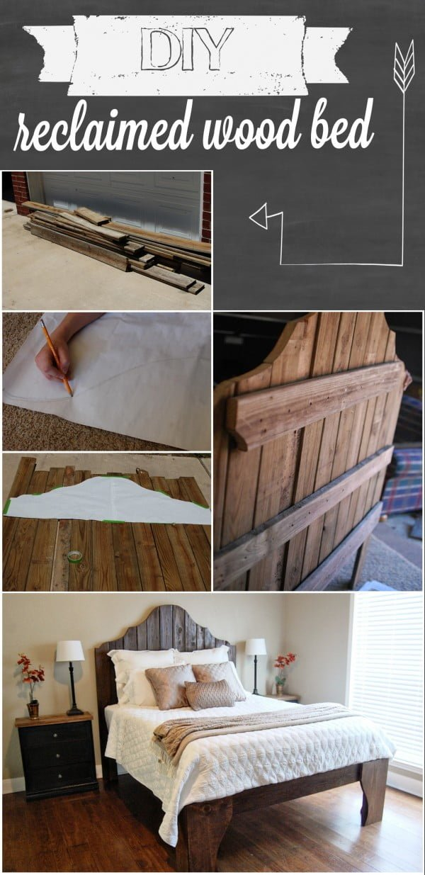 45 Easy DIY Bed Frame Projects You Can Build on a Budget - Check out how to build a DIY bed from reclaimed wood