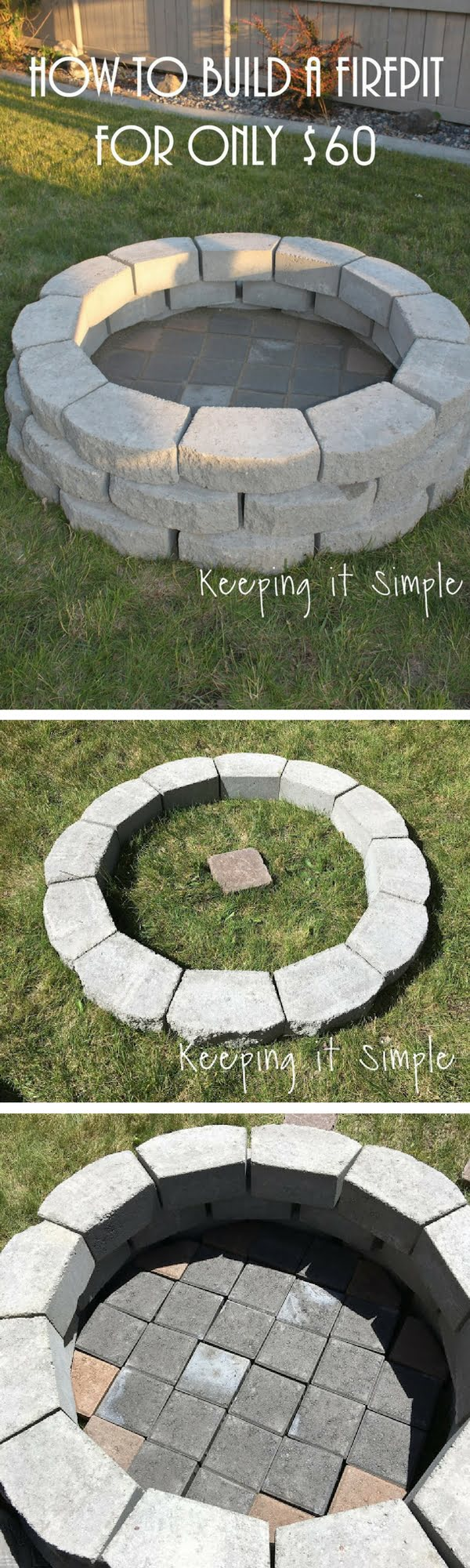 Check out how to build a simple DIY fire pit for your backyard