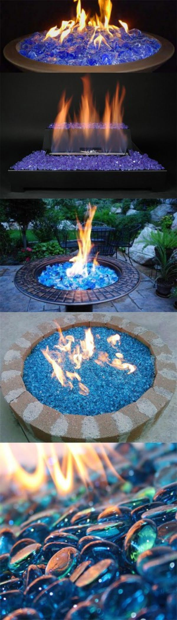 Check out the tutorial on how to make a DIY fireglass fire pit