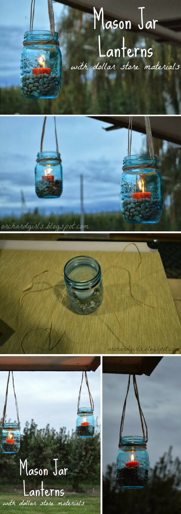 Check out how to make DIY mason jar lanterns