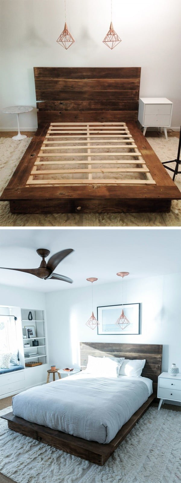 45 Easy DIY Bed Frame Projects You Can Build on a Budget - Check out how to build a DIY bed frame from reclaimed wood