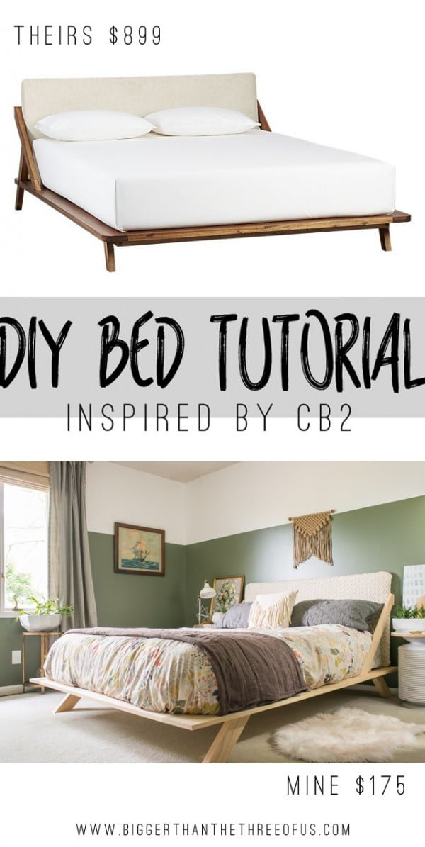 45 Easy DIY Bed Frame Projects You Can Build on a Budget - Check out how to build a DIY mid-century style bed