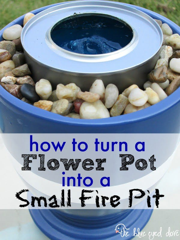 Check out the tutorial on how to make a DIY flower pot fire pit