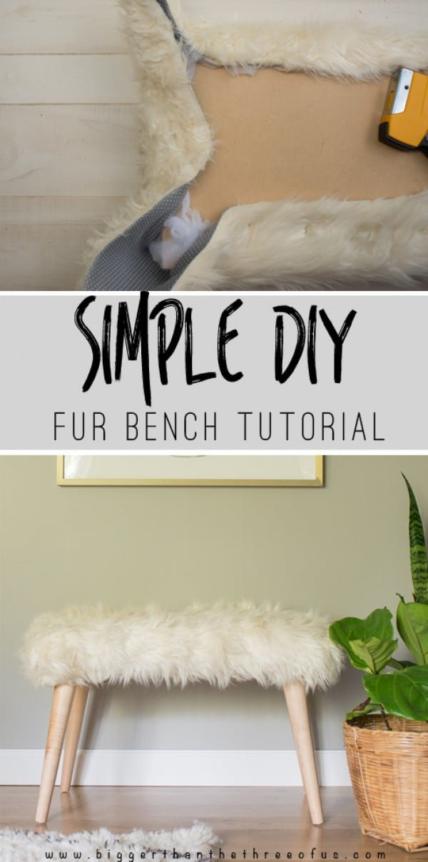Check out the tutorial on how to make a DIY fur bench