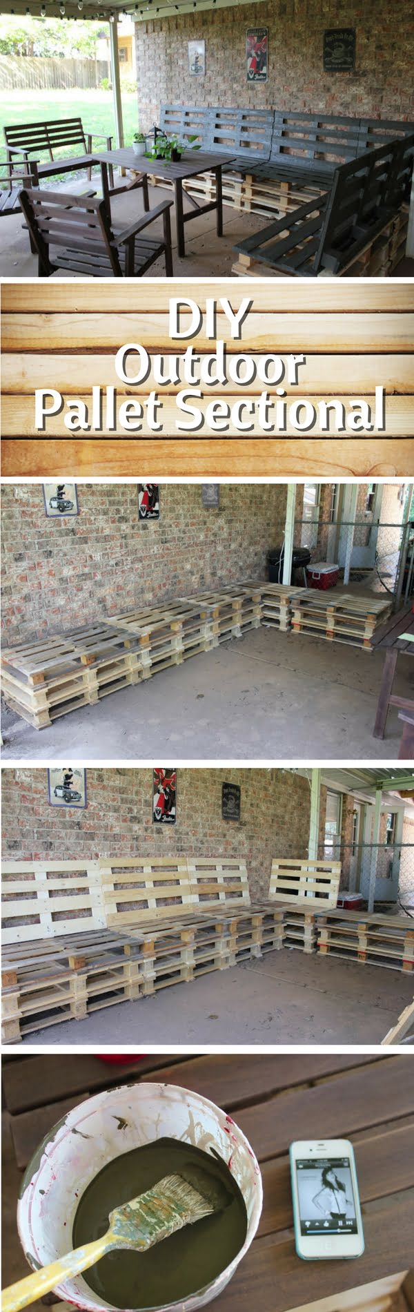 Check out how to build DIY outdoor furniture from pallet wood