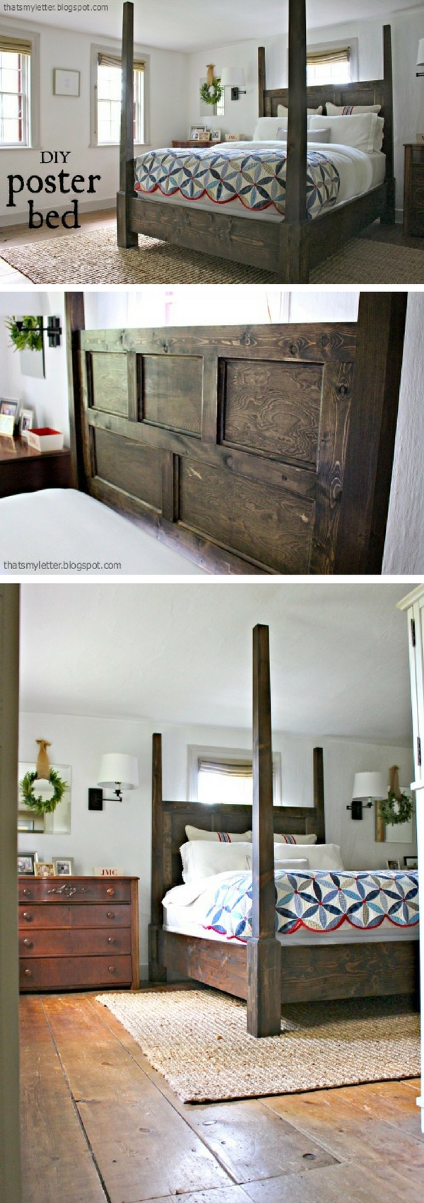 45 Easy DIY Bed Frame Projects You Can Build on a Budget - Check out the tutorial on how to build a DIY posted bed