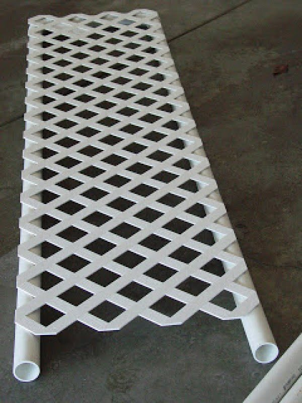 Check out how to build a DIY trellis from PVC piping @istandarddesign