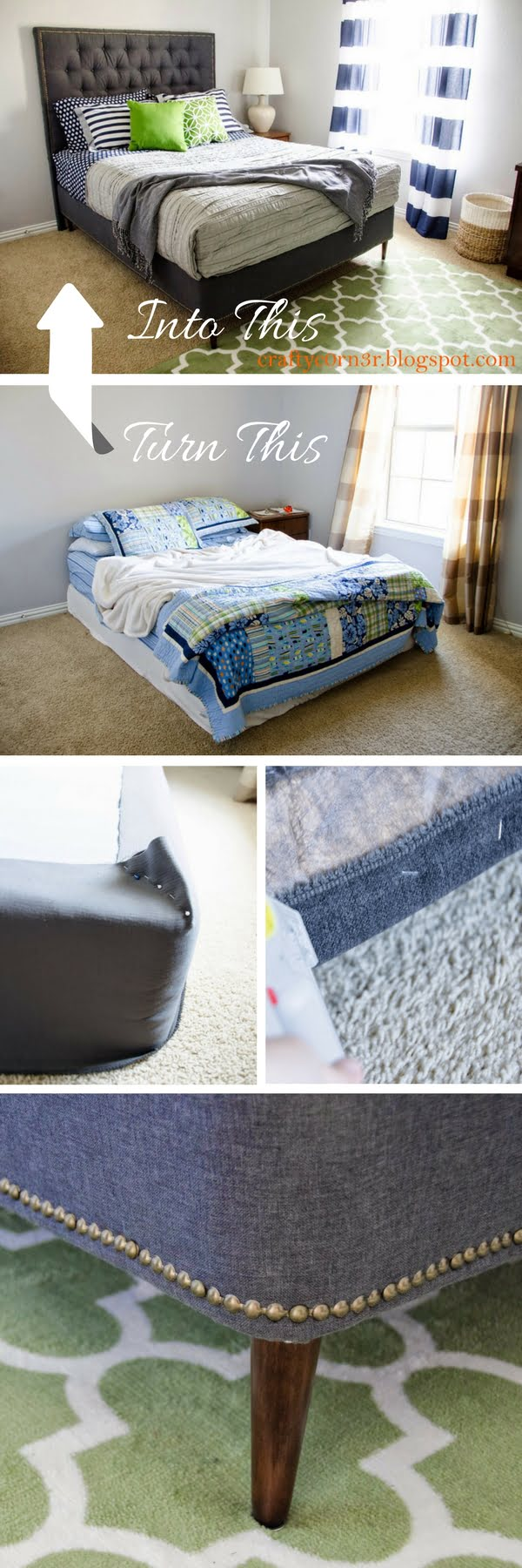 45 Easy DIY Bed Frame Projects You Can Build on a Budget - Check out how to build a DIY platform bed from box spring