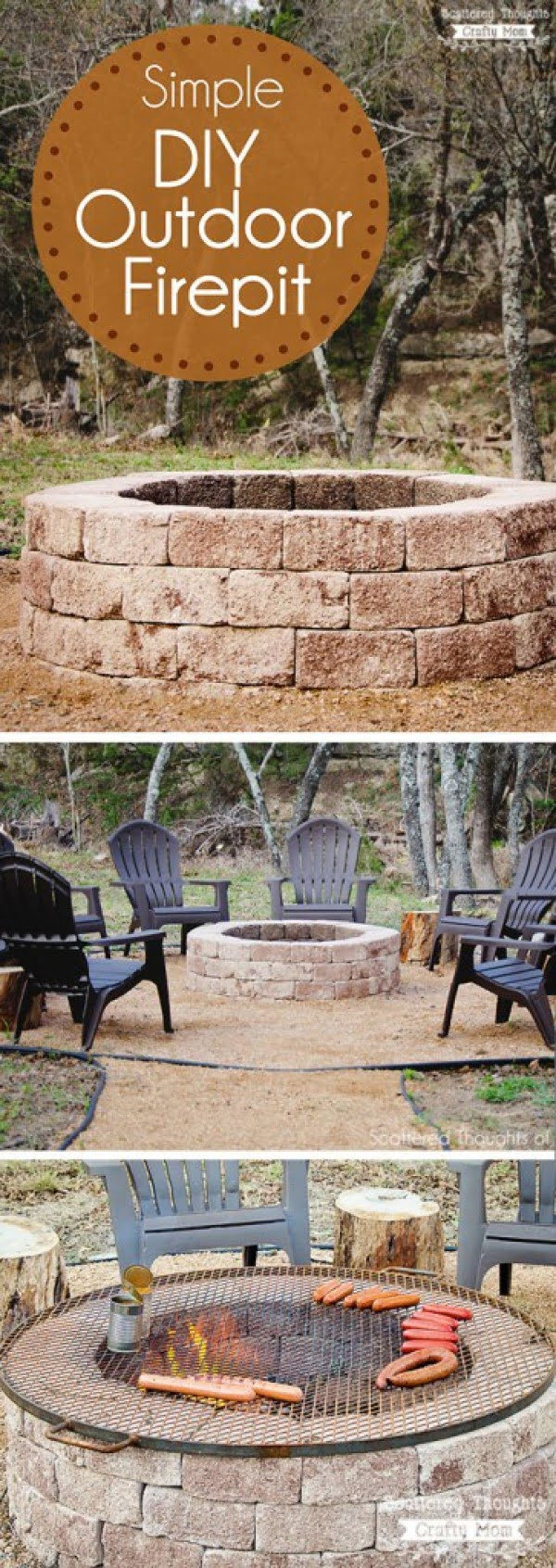 Check out the tutorial on how to make a simple DIY outdoor fire pit