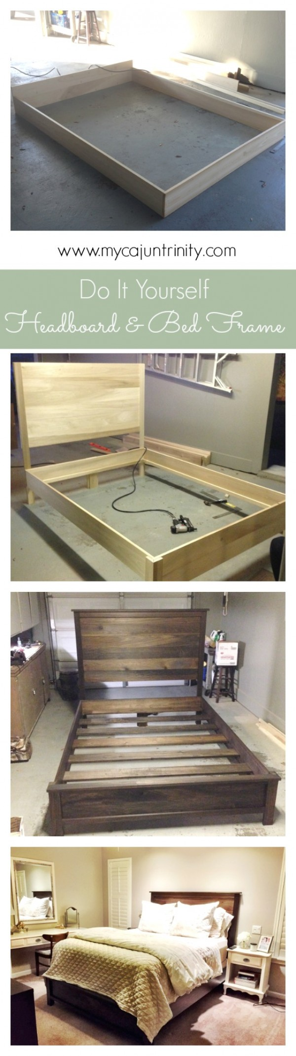 45 Easy DIY Bed Frame Projects You Can Build on a Budget - Check out the tutorial on how to build a headboard and bed frame