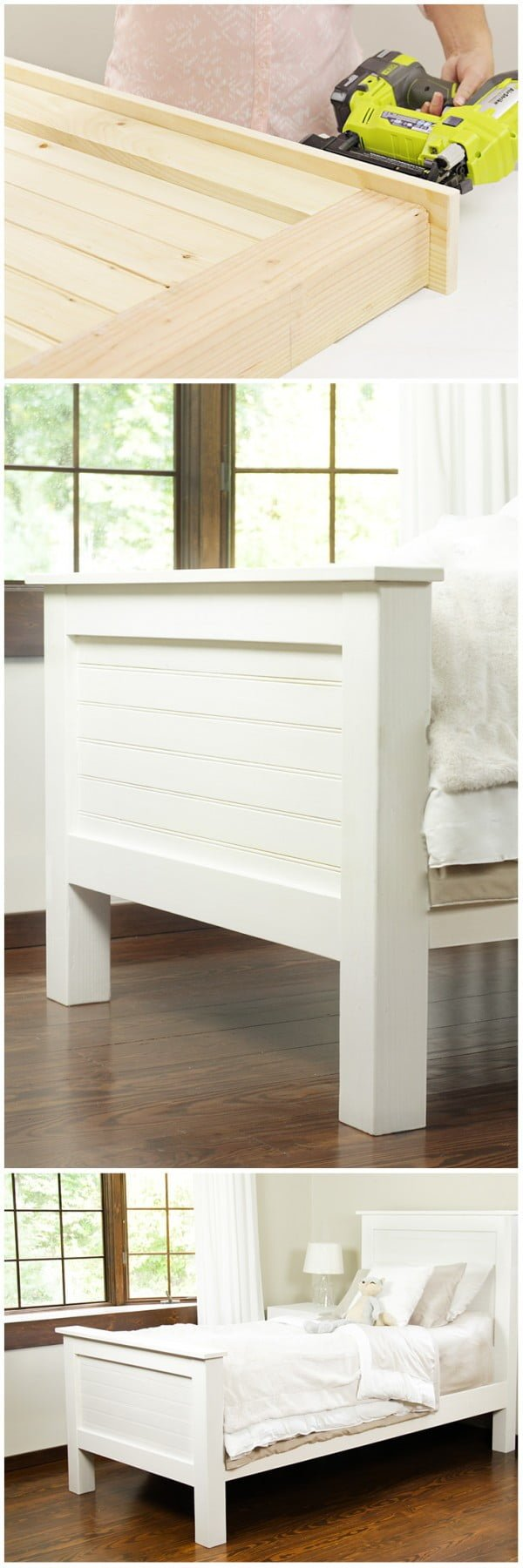 Check out how to build a DIY bed frame from tongue and groove boards @istandarddesign