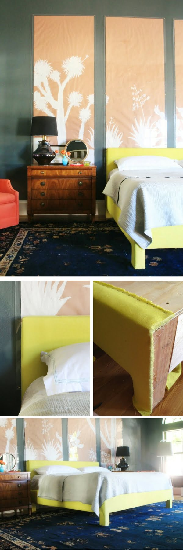 45 Easy DIY Bed Frame Projects You Can Build on a Budget - Check out the tutorial on how to build a DIY modern upholstered platform bed