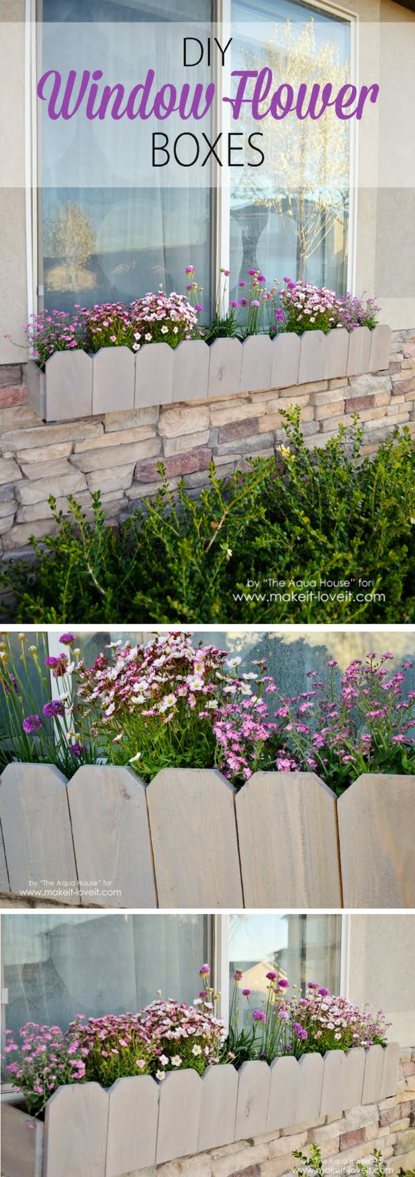 Check out how to build DIY window flower boxes