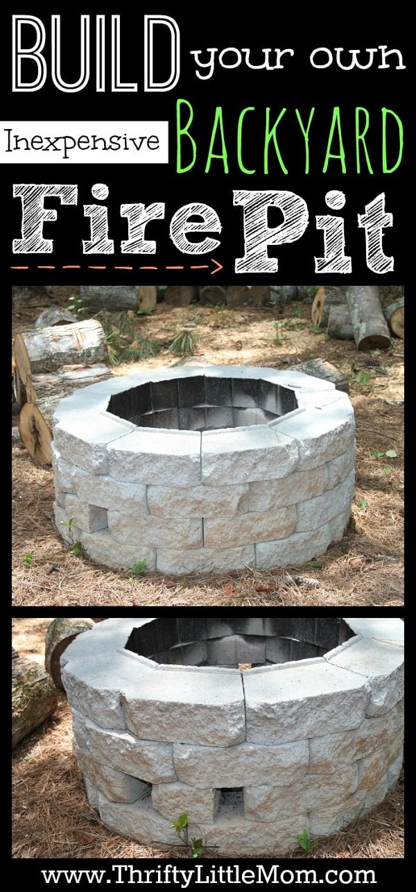 How to build an inexpensive  fire pit in your