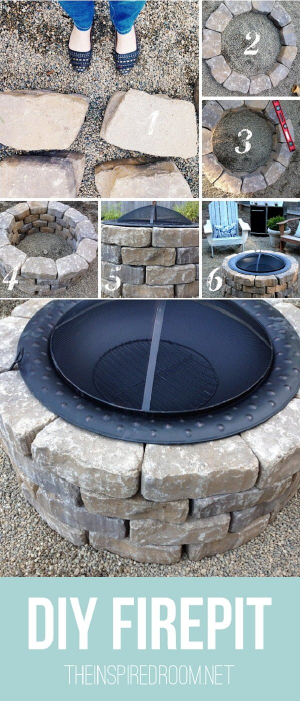 How to make a  fire pit in your  in 15 minutes. Great idea