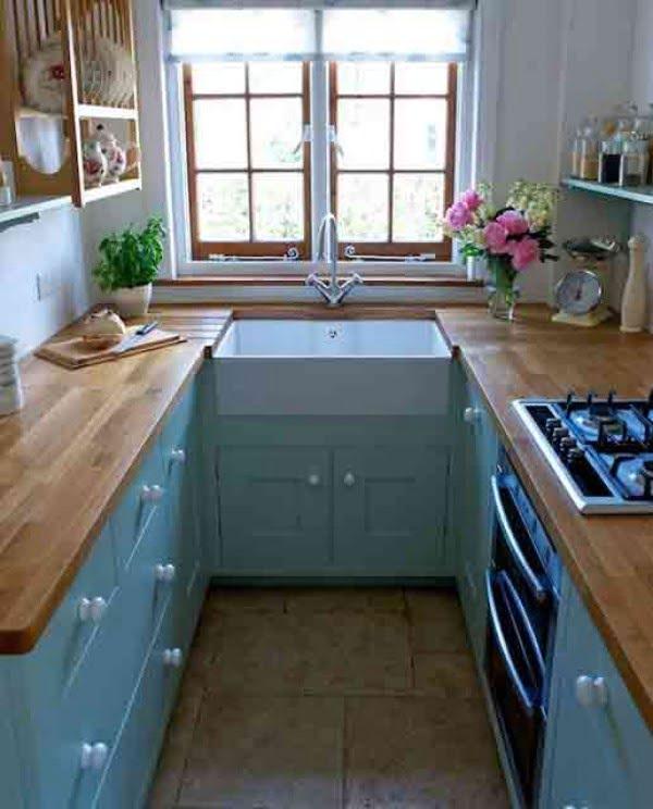 Tiny but stylish. This #kitchen decor rocks! #homedecor