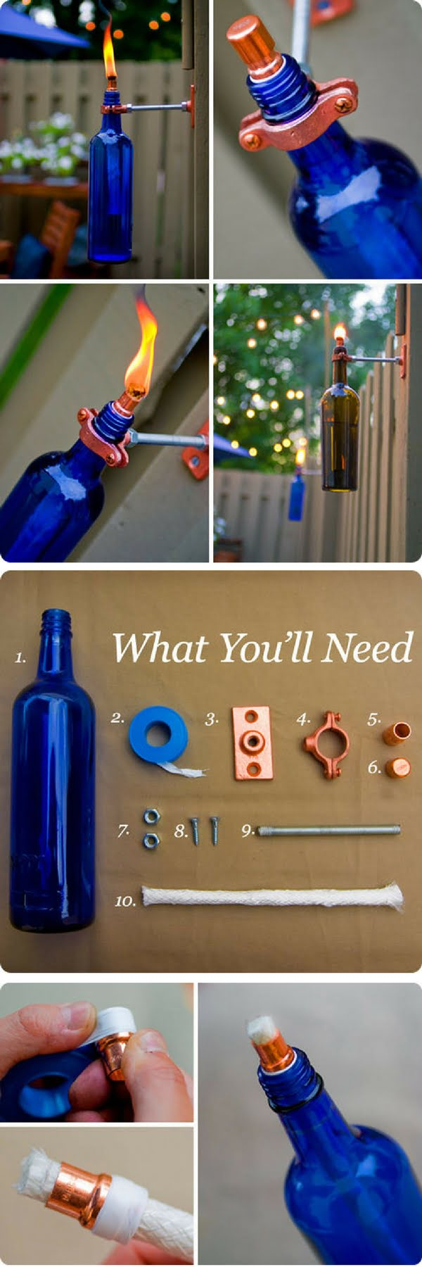 How to make easy DIY outdoor tiki torch lights