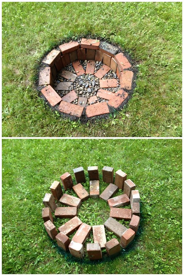 How to build your own  fire pit. Great project idea for