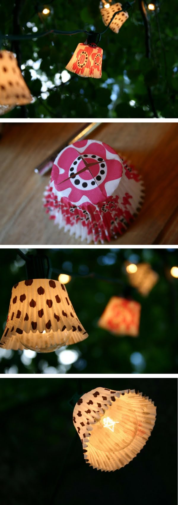 How to make easy DIY outdoor cupcake lights